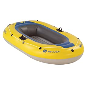 Sevylor Caravelle 2-Person Inflatable Boat with Pump and Oars