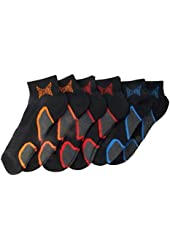 Tapout Mens Swift-Dry Quarter Sport Socks, Sizes 10-13, Black w/Colored Themes