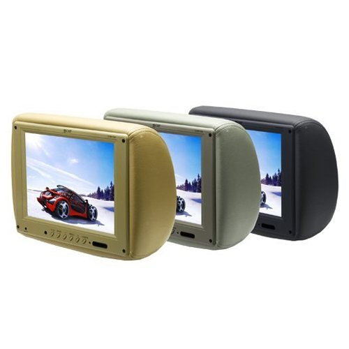Absolute Com1210irb 12 Inch Tft Lcd Monitor Loaded In Black Leather Headrest With Built In Ir