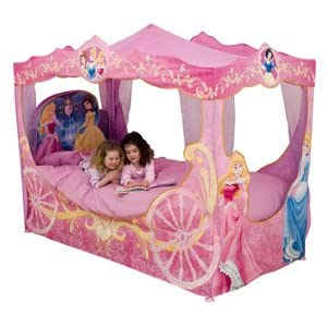 Princess Emily Shabby Chic White with Pink Sand-Through Carriage