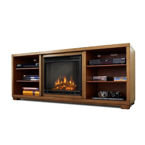 The Karyn Entertainment Center Ventless Electric Indoor Fireplace - Walnut photo B00C6MA8HK.jpg