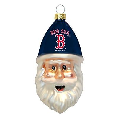 MLB Blown Glass Santa Cap Ornament