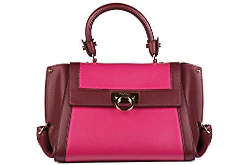 Salvatore Ferragamo borsa donna a mano shopping in pelle nuova sofia rosso