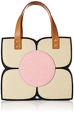 Orla Kiely Square Flower Applique Mini Handbag Top Handle Bag
