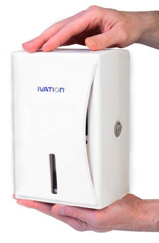 Ivation 小型/ポータブルでパワフルな除湿機 小さな部屋, 物置き, 台所の戸棚, 押入れ, 屋根裏部屋などにピッタリ とても静かに除湿します