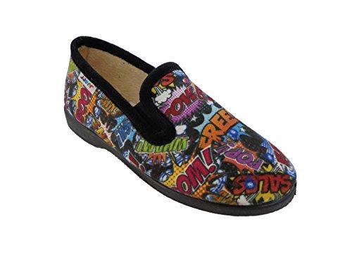 javer, Pantofole bambini nero nero nero Size: 36