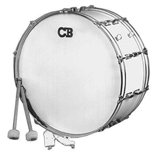 "CB IS3650W 10"" x 26"" Scotch White Marching Bass Drum"