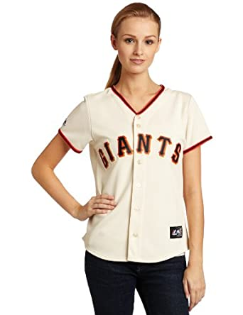 MLB San Francisco Giants Tim Lincecum Ivory Home Replica Baseball Ladies Jersey by Majestic