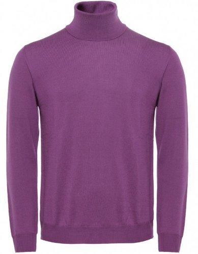 Pal Zileri Men's Sweater Purple Roll Neck Jumper XL