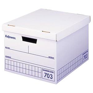 フェローズ バンカーズボックス 703ボックス A4ファイル用 青 3枚パック 内箱 5段積重ね可能 対荷重30kg