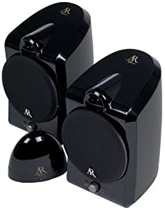 Acoustic Research AW877 900 Mhz Indoor Wireless Speakers Black