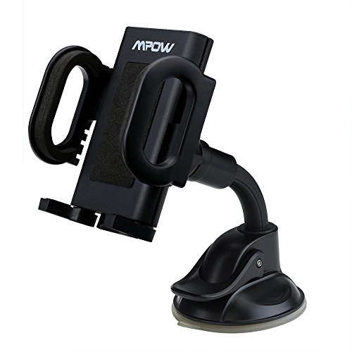 Mpow Universal Windshield Car Mount Holder Cradle for iPhone, iPod, Samsung, LG, Nexus, HTC, Motorola, Sony and Other Smartphones (Car Accessories Windshield compare prices)