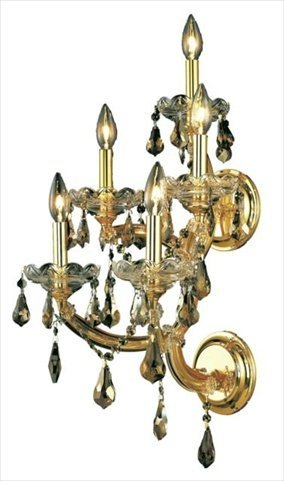 Pwg - Lighting By Pecaso 2381W5G-Gt-Ss Wall Sconce Karlacollection front-337637