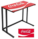 LumiSource Coca-Cola Office Desk, Black at Amazon.com