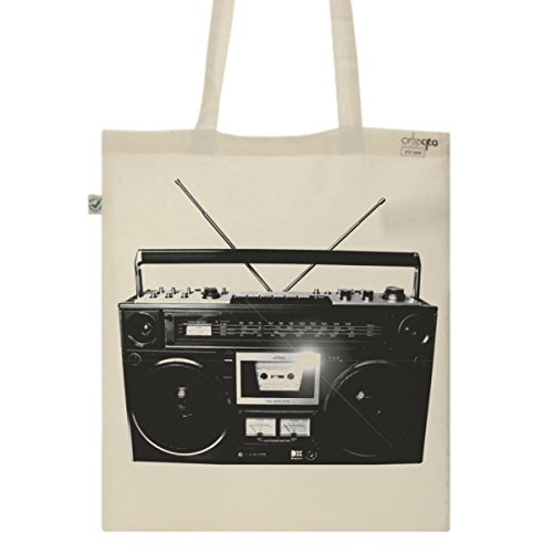 Graphic Canvas Tote Bag -