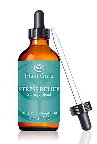 Stress Relief Synergy Blend Essential Oil 4oz. (118 Ml.) 100% Pure, Undiluted, Therapeutic Grade. (Blend Of: Bergamot, Patchouli, Sweet Orange, Ylang Ylang, Pink Grapefruit, Gurjum) With Glass Dropper. Great for Aromatherapy!