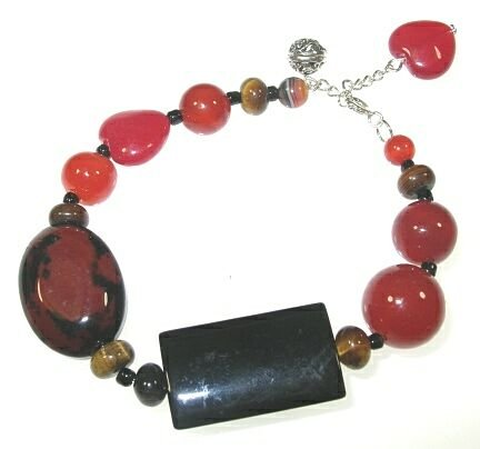Tigers Eye and Agate Bracelet