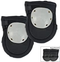SE GP322KPB Knee Pads with Plastic Caps Black and Grey