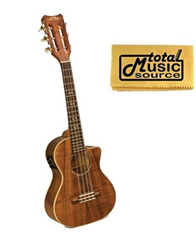 Lanikai Tenor 6 String Curly Koa A/E Ukulele, Fishman Kula Electronics, Ck-6Ek