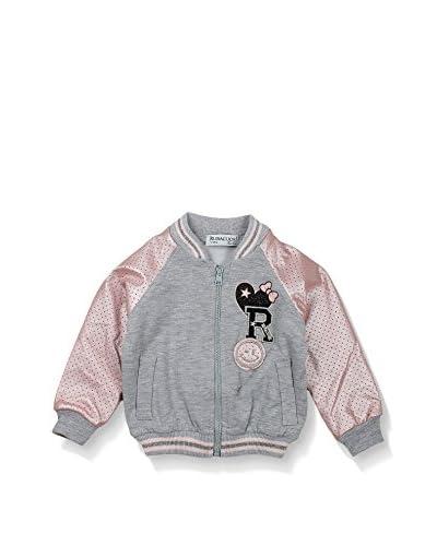 Rubacuori Sweatjacke grau meliert/rosa