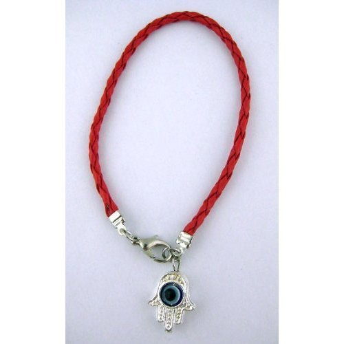 Red String Kabbalah Bracelet with Hamsa Protection Hand