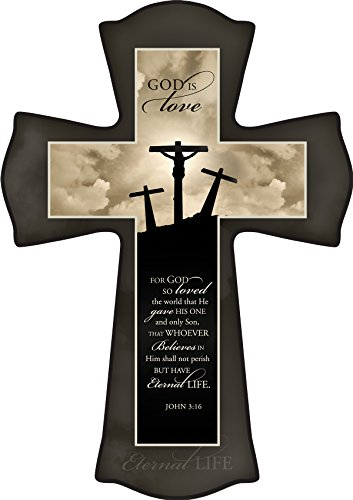 Decorative Picture Wall Cross By P. Graham Dunn (Three Crosses)