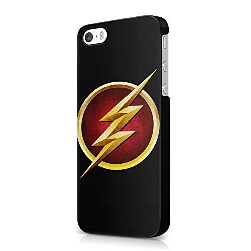 The Flash Logo Grunge Justice League Superhero Comics Hard Snap-On Protective Case Cover For Iphone 5 / Iphone 5s