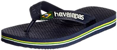 Havaianas Brasil Logo, Unisex Kids' Flip Flops, Blue (Navy Blue 0555), 13 Child UK (33/34 EU)