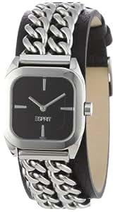 Esprit - ES102642002 - Cordon Black - Montre Femme - Quartz Analogique - Cadran Noir - Bracelet Cuir Noir