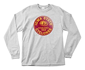 NCAA Iowa State Cyclones 100-Percent Pre-Shrunk Vintage Circle Long Sleeve Tee,... by SDI