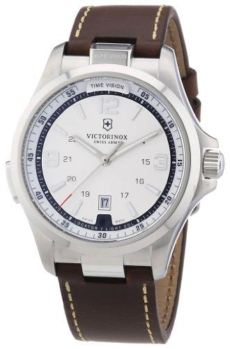 victorinox-swiss-army-241570-montre-homme-quartz-analogique-aiguilles-lumineuses-bracelet-cuir-marro