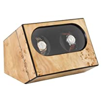 Mapa Burl High Gloss Double Watch Winder
