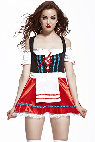 Ninimour- Women Adult Frisky Beer Girl Costume Halloween