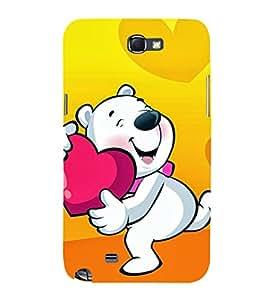 EPICCASE Bear hug Mobile Back Case Cover For Samsung Galaxy Note (Designer Case)