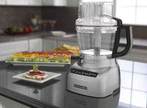 KitchenAid 13-cup Food Processor Externally Adjustable Slicing Disc KFP1333bd Brushed Silver Chrome  Review