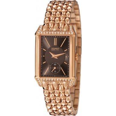 ESPRIT Collection EL101992F09 - Reloj analógico de cuarzo para mujer, correa de acero inoxidable chapado en oro rosa color oro rosa