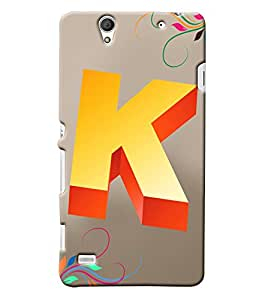 Clarks Letter K Hard Plastic Printed Back Cover/Case For Sony Xperia C4