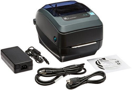 Zebra GX430t Monochrome Desktop Direct Thermal/Thermal Transfer Label Printer with Reflective and Transmissive Media Sensor, 4 in/s Print Speed, 300 dpi Print Resolution, 4.09