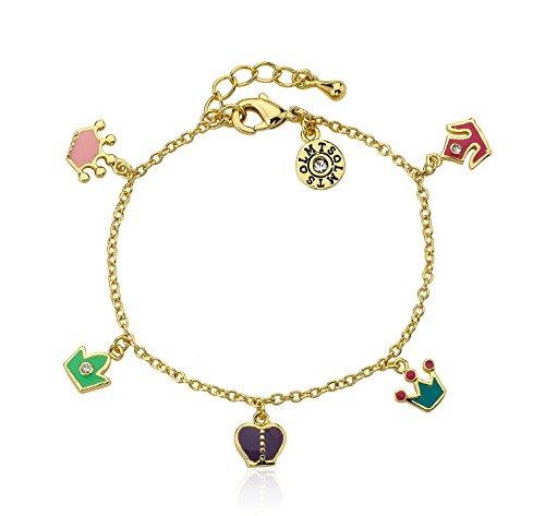 """Little Miss Twin Stars """"Rocking Royalty"""" placcata in oro 14 k con elementi Charm, multicolore"""