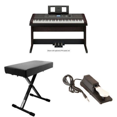 Find Cheap Yamaha DGX650B Digital Piano with OnStage Keyboard Bench and Pedal