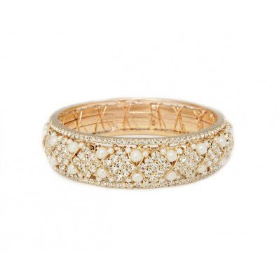 Bling For The Girls Limited Jane Pearl Bangle, Large (Diameter: 6.53CM)