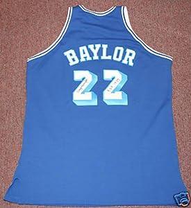 Elgin Baylor Autographed Los Lakers Basketball Jersey PSA DNA