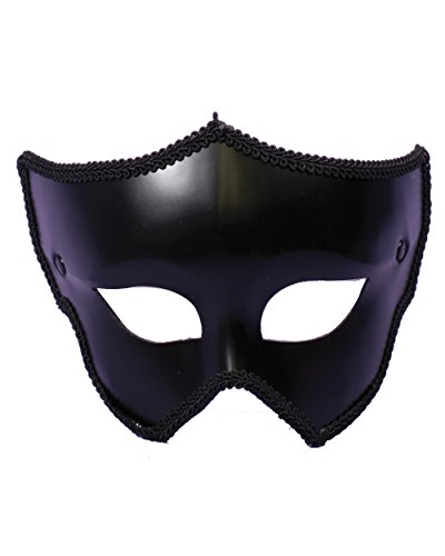 Mens Or Womens Black Mask Halloween Spirit Costume Accessory