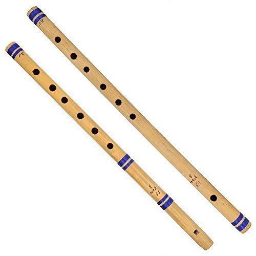 Indian Bamboo Flute Bansuri, Set of 2, Fipple & Transverse, For Amateurs