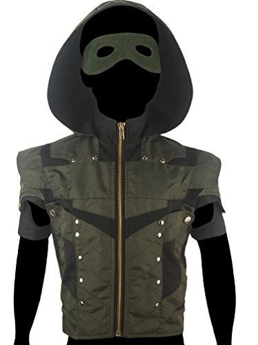 [XYZcos Boys' Green Arrow Season 4 Oliver Queen Jacket Hoodie Costume Size 7-8] (Kid Sized Assassins Creed Costume)