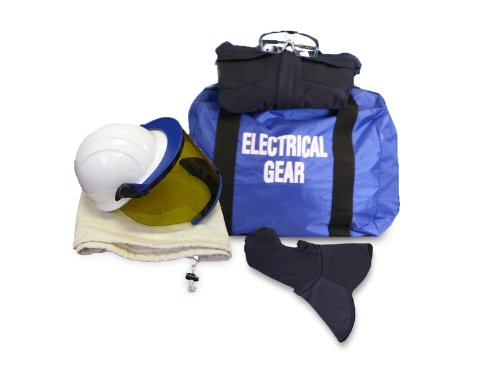 National Safety Apparel KIT2CV11NGBXL ArcGuard HRC 2 Arc Flash Kit with 12 cal/sq cm Ultra Soft Coverall and Balaclava Knit Hood, X-Large, Navy
