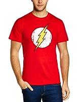 DC Herren T-Shirt The Flash - Logo, Rundhals