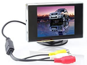 3.5 inch TFT LCD Digital Car Rear View Monitor 2-channel video input:V1/V2 auto switching(V1 display first) from TaoTronics