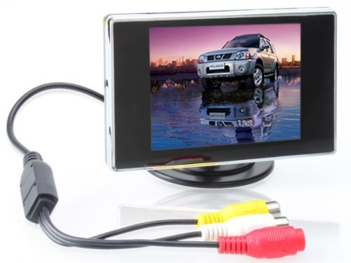3.5-Inch Tft Lcd Square Digital Car Monitor, Available For Car Dvd, Vcd, Gps, Cameras