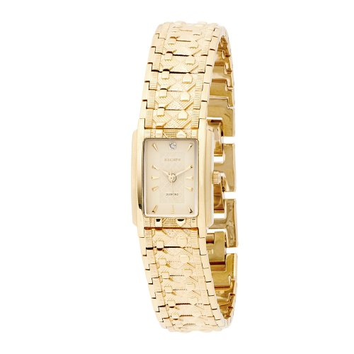 Elgin Women's EG286 Diamond Dial Textured and Nugget Bracelet Watch